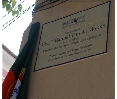 Placa casa Tito de Morais