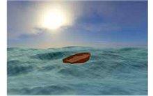 Barco vazio mar