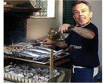 Blair no churrasco