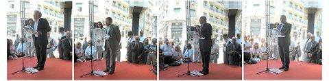 Oradores no descerramento do busto de Tito de Morais