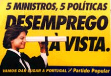 Desemprego - Cartaz do CDS/PP