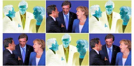 Sarko, Coelho e Merkel