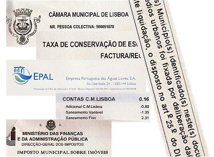 Alguns Impostos Municipais de Lisboa
