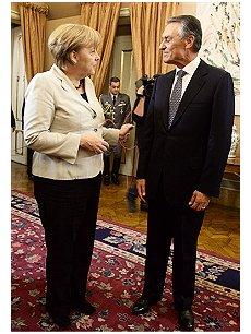 Cavaco e Merkel