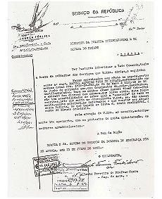 Registo PSD - PIDE, Luanda, 1952