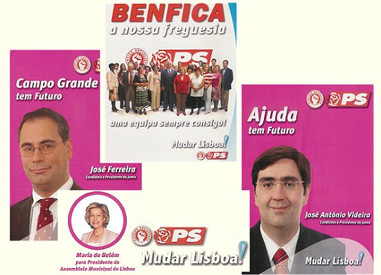 Benfica, Ajuda, Campo Grande e Assembleia Municipal