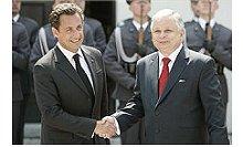 líderes francês e polaco