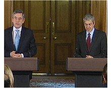 Primeiros-Ministros britânico e português