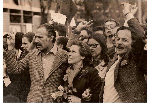 1º de Maio de 1974 - Palma Inácio, Maria Barroso, Tito de Morais